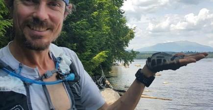 Scott Jurek on the trail. Image from Facebook.