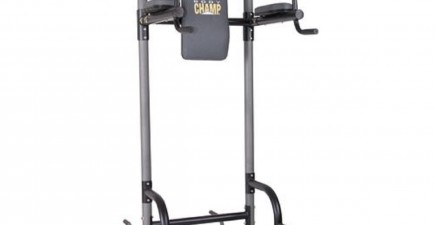 The Body Champ 4-Station VKR Power Tower. Image courtesy of Academy Sports and Outdoors.