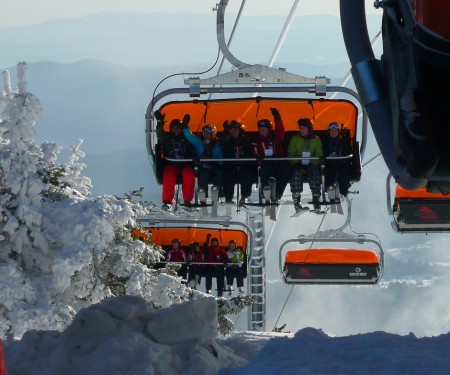Vermont's Okemo now has two bubble chairlifts.
