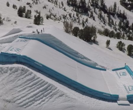 Progression AirBags slope shaped airbags protect boarders during 2018 Winter Olympic training   ActionHub